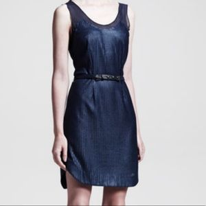 RAG & BONE Navy Knit Sleeveless Tank Belted Dress